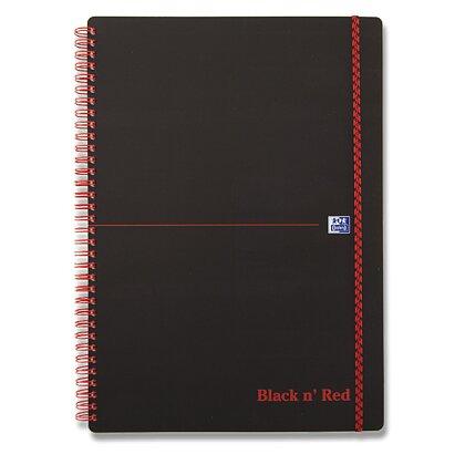 Obrázek produktu Oxford Black n' Red - kroužkový blok - A5, 70 l., čtverečkovaný