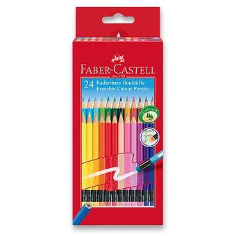 Obrázek produktu Pastelky Faber-Castell s barevnou pryží - 24 barev
