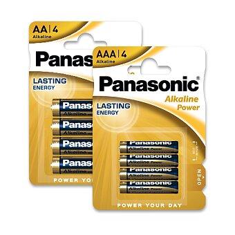 Obrázek produktu Alkalické baterie Panasonic Alkaline Power - 4 ks, AA nebo AAA