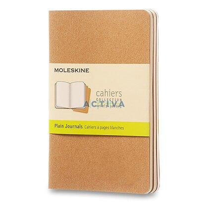Obrázok produktu Notes Moleskine Cahier - 9 x 14 cm , čistý, 3 ks, kartón
