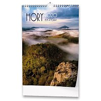 Nástěnný obrázkový kalendář Hory Čech a Moravy 2020