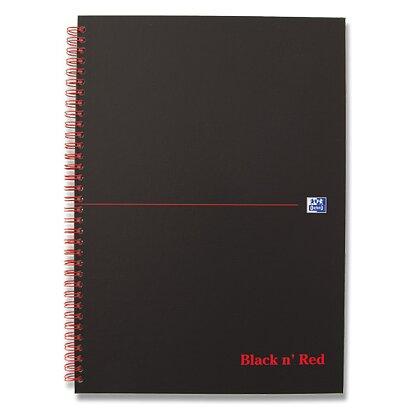 Obrázek produktu Oxford Black n' Red - kroužkový blok - A4, 70 l., linkovaný