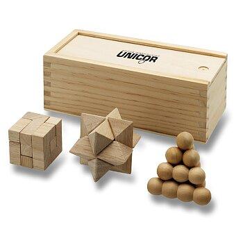 Obrázek produktu Dřevěné hlavolamy v dárkovém boxu