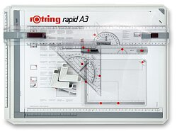 Rýsovací deska Rotring Rapid A3 a kufřík College