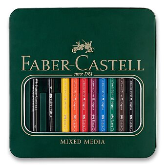 Obrázek produktu Akvarelové pastelky Faber-Castell Albrecht Dürer Magnus - plechová krabička, 8 barev