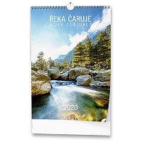 Nástěnný obrázkový kalendář Řeka čaruje 2020