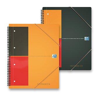 Obrázek produktu Kroužková záznamní kniha Oxford Meeting Book s perforací - A4, 80 listů, linka nebo čtvereček