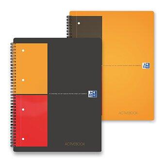 Obrázek produktu Kroužková záznamní kniha Oxford Active Book s perforací - A4, 80 listů, linka nebo čtvereček