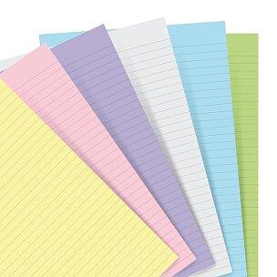 Náhradní listy, linkované, pastelové
