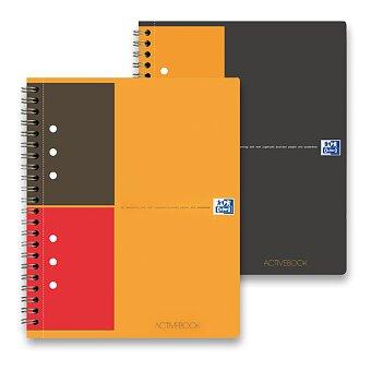 Obrázek produktu Kroužková záznamní kniha Oxford Active Book s perforací - A5, 80 listů, linka nebo čtvereček