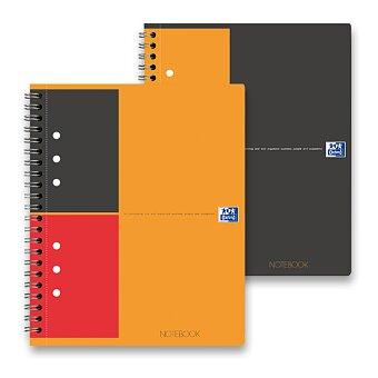 Obrázek produktu Kroužková záznamní kniha Oxford Notebook s perforací - A5, 80 listů, linka nebo čtvereček