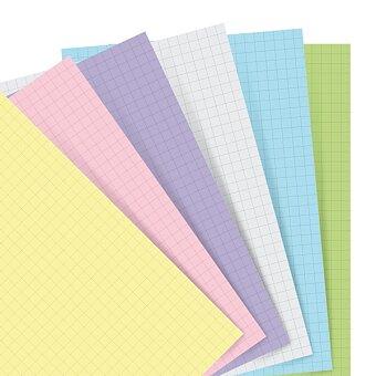 Obrázek produktu Náhradní listy, čtverečkované, pastelové - náplň kapesních zápisníků Filofax Notebook