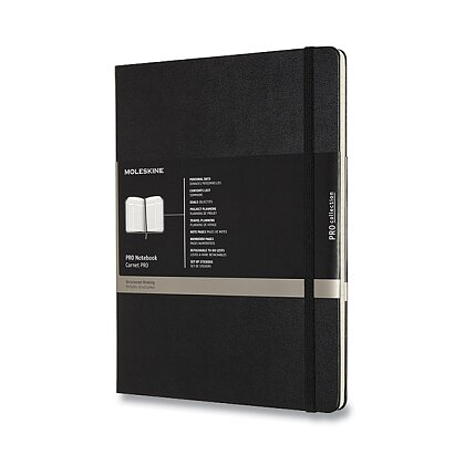 Obrázok produktu Moleskine Professional - zápisník v tvrdých doskách - veľ. XL, 19 x 25 cm, čierny