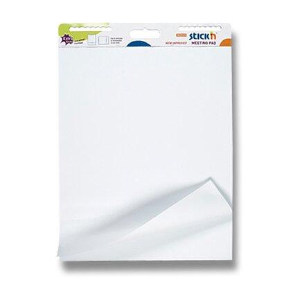 Obrázek produktu Hopax Stick'n Meeting Pad - samolepicí flipchart - 30 listů, bílý