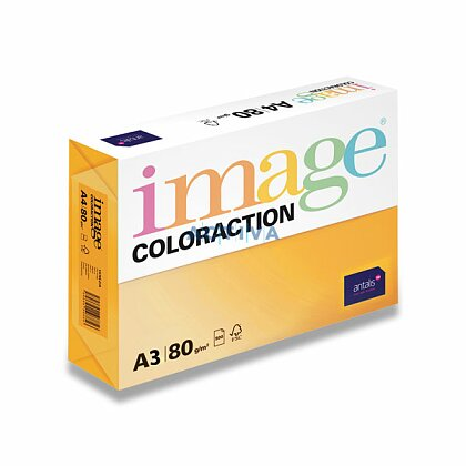 Obrázok produktu Image Coloraction - farebný papier - reflexná žltá, A3, 80 g, 500 l, Ibiza