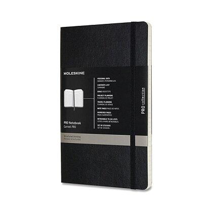 Obrázek produktu Moleskine Professional - zápisník v měkkých deskách - vel. L, 13 × 21 cm, černý