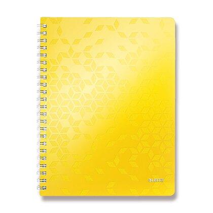 Obrázok produktu Leitz WOW - krúžkový blok - A4, 80 listov, linajkový, žltý