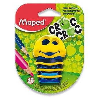 Obrázek produktu Ořezávátko Maped Croc Croc - s odpadní nádobou - 2 otvory, blistr, mix barev