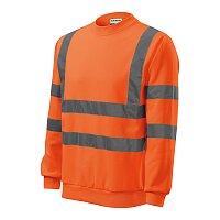 Mikina unisex HV Essential, velikost 3XL, fluorescenční oranžová