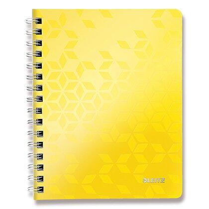 Obrázok produktu Leitz WOW - krúžkový blok - A5, 80 listov, linajkový, žltý