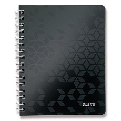 Obrázek produktu Leitz WOW - kroužkový blok - A5, 80 listů, linka, černý