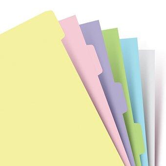 Obrázek produktu Krajové výřezy, pastelové - náplň A5 diářů Filofax