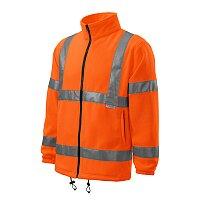 Fleece unisex HV Fleece Jacket, velikost 3XL, fluorescenční oranžová