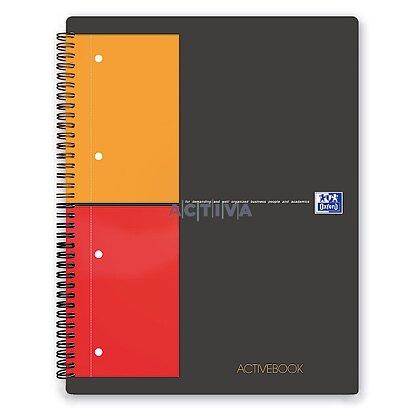 Obrázok produktu Oxford Active Book - krúžková záznamová kniha - A4, 80 l., štvorčeková