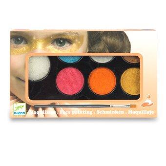 Obrázek produktu Barvy na obličej Djeco - 6 barev, metalické