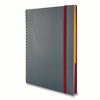 Obrázek produktu Kroužkový blok Avery Zweckform Notizio s šedým papírem - A4, linka, 90 listů