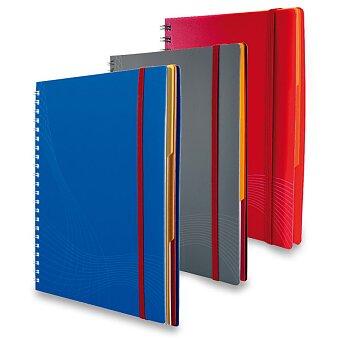 Obrázek produktu Koružkový blok Avery Zweckform Notizio s šedým papírem - A5, čtvereček, 90 listů, výběr barev