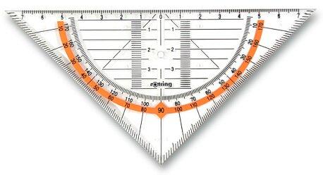 Obrázek produktu Geometrický trojúhelník Rotring Cento - přepona 16 cm
