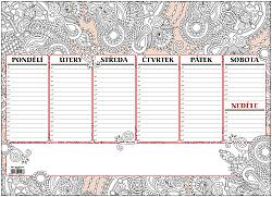 Stolní plánovač - týdenní mapa