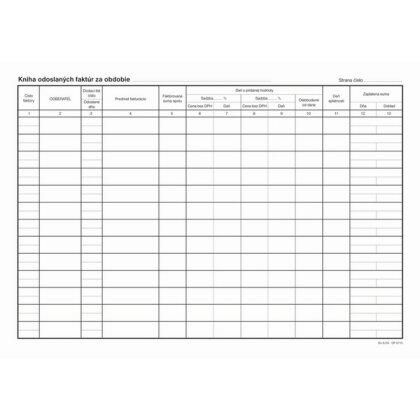 Obrázok produktu Kniha odoslaných faktúr - 32 listov, formát A4