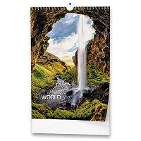 Nástěnný obrázkový kalendář Beautiful World 2020