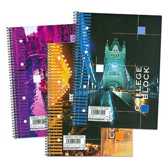 Obrázek produktu College blok Papírny Brno - A4, linkovaný, 70 listů