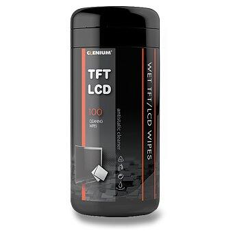 Obrázek produktu Vlhké čisticí utěrky Clenium Cleaning Wipes - 13 x 20 cm, dóza 100 ks
