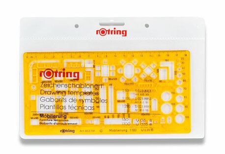 Obrázek produktu Šablona na nábytek Rotring - 1:100