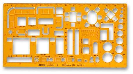 Obrázek produktu Šablona na nábytek Rotring - 1:50