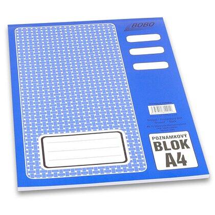 Obrázek produktu Bobo blok - lepený blok - A4, 50 l., čistý