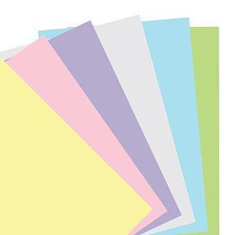 Obrázek produktu Poznámkový papír, čistý, 6 barev - náplň osobních diářů Filofax
