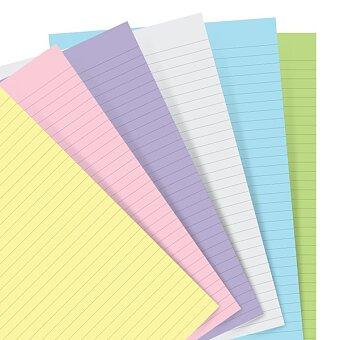 Obrázek produktu Poznámkový papír, linkovaný, 6 barev - náplň osobních diářů Filofax
