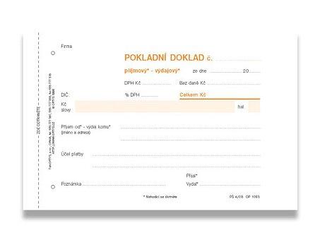 Obrázek produktu Univerzální pokladní doklad Optys 1093 - A6, samopropis, 100 listů