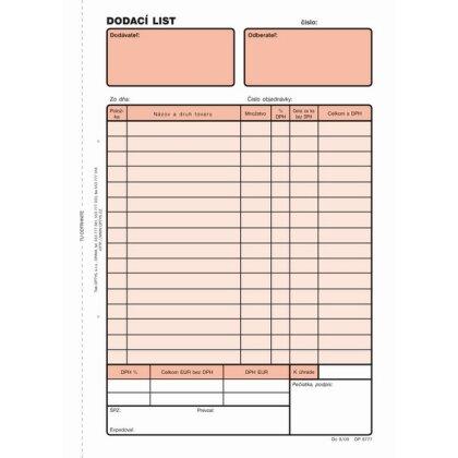 Obrázok produktu Dodací list - NCR, 100 listov, formát A5