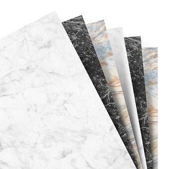Obrázek produktu Poznámkový papír, čistý, mramorový - náplň osobních diářů Filofax