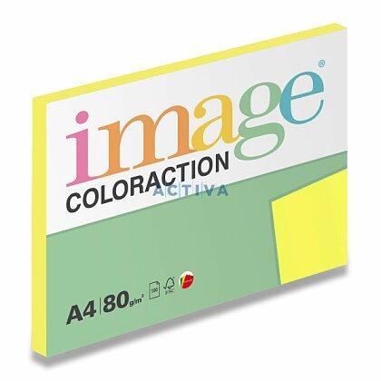 Obrázok produktu Image Coloraction - farebný papier - reflexná žltá, A4, 80g, 100 l., Ibiza