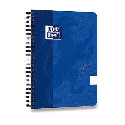 Obrázok produktu Oxford Nordic Touch - krúžkový blok - A5, linajkový, modrý