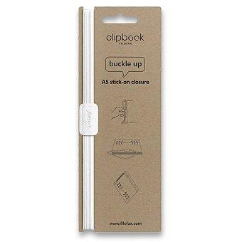 Obrázek produktu Filofax Clipbook Monochrome, elastické zavírání A5 - bílá
