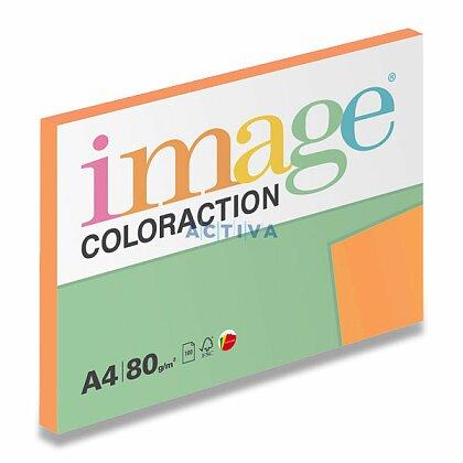 Obrázok produktu Image Coloraction - farebný papier - reflexná oranžová, A4, 80g, 100 l., Acapulco