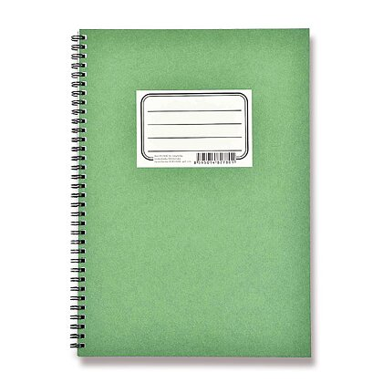 Obrázek produktu Bobo Blok Zelenáč - kroužkový blok - A4, 50 l., linka/ tečky